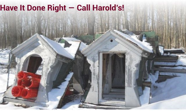 Have it Done Right — Call Harold's! antique window frames