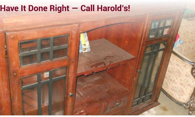 Have it Done Right — Call Harold's! materials cabinets