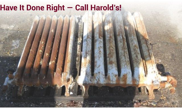 Have it Done Right — Call Harold's! antique heater