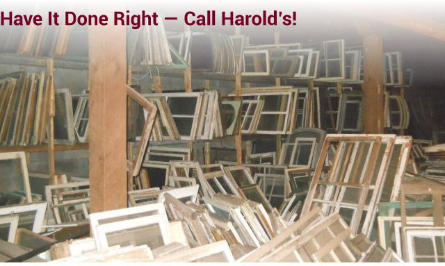 Have it Done Right — Call Harold's! building materials