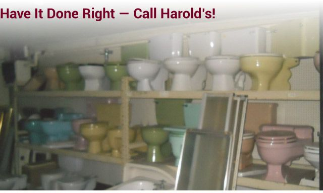 Have it Done Right — Call Harold's! materials toilet